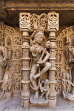 Statues at the Rani Ki Vav Step Well Stock Photo