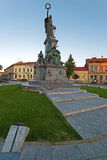 Statues from reconciliation Park of Arad, Romania. ARAD, ROMANIA - AUGUST 26, 2016: Statues and buildings from reconciliation Park of Arad, Romania Stock Photos
