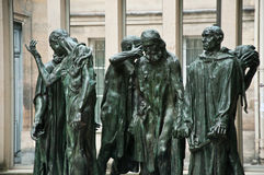 Statues in Rodin museum Stock Image