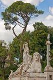 Statues romaines Photo libre de droits