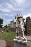 Statues on roman forum Royalty Free Stock Photos