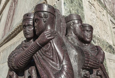 Statues of roman rulers Stock Photo