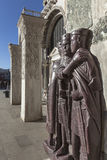 Statues of roman rulers Stock Photography