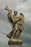 Statues of Rome #2. An ancient sculpture of angel located on San Angel bridge in Rome, Italy Royalty Free Stock Photo