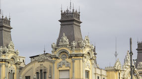 Statues on the roof royalty free stock photo