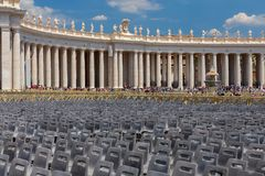 Rome. Sculptures of the Vatican. stock images