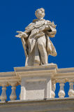 Statues on the roof of St. Peter Cathedral in Royalty Free Stock Photography