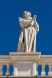Statues on the roof of St. Peter Cathedral in Royalty Free Stock Photo