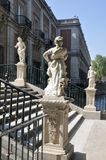 Statues at the Royal Palace of Aranjuez (Madrid) Stock Image