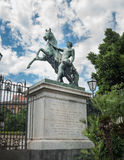 Statues of Russian bronze horses in Naples - Italy Royalty Free Stock Photography