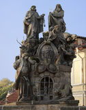 Statues of Saint John, Felix and Ivan Stock Images