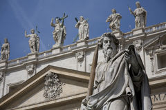 Statues on Saint Peter's Cathedral Royalty Free Stock Photo
