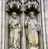 Statues of Saints Andrew and James in Vienna, Austria Stock Image