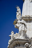 Statues of the saints of the column of the Trinity, Budapest. 2 Royalty Free Stock Photos