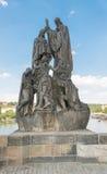 Statues of Saints Cyril and Methodius - Prague Stock Photo