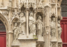 Statues of saints on the facade Royalty Free Stock Images