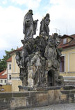 Statues of Saints John, Felix of Valois and Ivan. Stock Photography