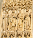 Statues of saints in neogothic style Royalty Free Stock Photos