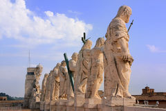 Statues of Saints, St Peters Basilica, Vatican City Stock Photo