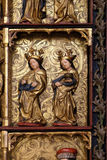 Statues of Saints, 15th century, from the church of the Queen of the Holy Rosary in Remetine, Croatia Stock Image