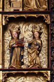 Statues of Saints, 15th century, from the church of the Queen of the Holy Rosary in Remetine, Croatia Stock Photo