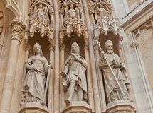 Statues of saints of Zagreb cathedral (XVIII c.). Croatia Stock Photos