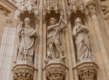 Statues of saints of Zagreb cathedral (XVIII c.). Croatia Stock Photo