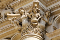 Statues at the Santa Croce baroque church in Lecce Royalty Free Stock Photos