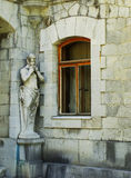 Statues of Satyr, Masandra Palace, Crimea peninsula Royalty Free Stock Image