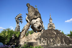 Statues in the Sculpture Park - Nong Khai, Thailand royalty free stock photo
