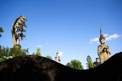 Statues in the Sculpture Park - Nong Khai, Thailand. Huge Statues in the Sculpture Park - Nong Khai, Thailand stock photo