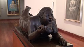 Statues, Sculptures, Arts, Artwork, Monuments, Landmarks. Stock video of an obese statue stock footage