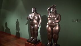 Statues, Sculptures, Arts, Artwork, Monuments, Landmarks. Stock video of an obese statue stock video