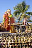 Statues in the seaside temple on the beach Royalty Free Stock Image