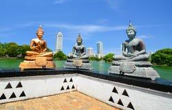 The Statues Of Seema Malakaya At The Gangarama Temple In Sri Lanka Stock Photo