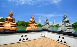 The Statues Of Seema Malakaya At The Gangarama Temple In Sri Lanka Stock Photography
