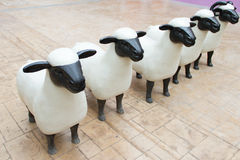 Statues of sheeps Stock Photography