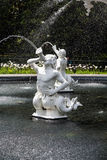 Statues Spouting Water in Forsyth Park Fountain Royalty Free Stock Image