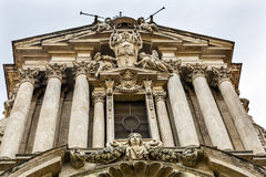 Statues SS Vincenzo E Anastasio Church Rome Italy Stock Images