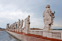 Statues at the St. Peter's Basilica Royalty Free Stock Photography