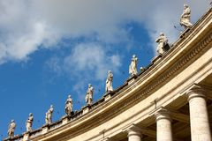 Statues in St Peter's square, Rome, Italy Stock Images