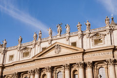 Statues in St. Peter in Vatican Royalty Free Stock Photo