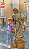 Statues Streets of Taormina Royalty Free Stock Image