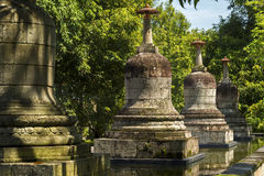 Statues and stupas of Mendut temple Royalty Free Stock Photo