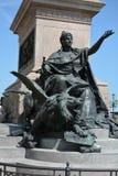 Statues sur Grand Canal, Venise Images libres de droits