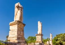 Statues sur l'agora antique, Athènes, Grèce photographie stock libre de droits