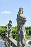 Statues sur la cascade grande dans les jardins de Herrenhausen Photo libre de droits