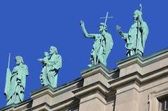 Statues sur la Cathédrale-basilique de Mary Image stock