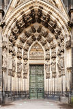 Statues surrounding the west entrance of the Cologne Cathedral, Germany. Stock Image