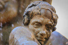 The statues of Syracuse. The statues of the fountain in the square in Syracuse Stock Images